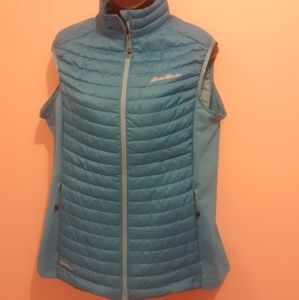 Eddie Bauer Stormdown 800 Vest in Blue. 🇨🇦 Large